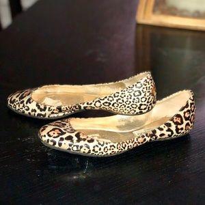Jimmy Choo size 38 Leopard Flats  super cute!